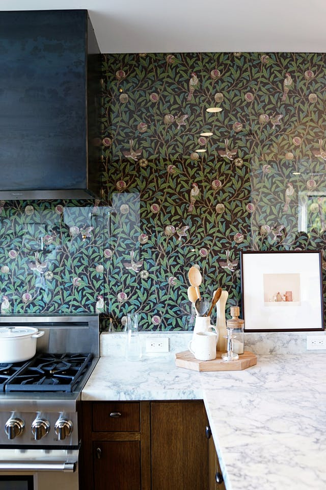 Glass Kitchen Backsplash
